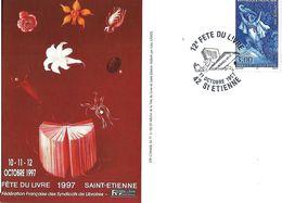FÊTE DU LIVRE SAINT-ETIENNE 42 LOIRE 1997 SOUVENIR PHILATÉLIQUE  ILLUSTRATION LUKAS  KANDL - Evénements