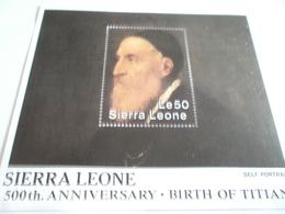 Miniature Sheet Perf 500th Anniversary Birth Of Titian - Sierra Leone (1961-...)