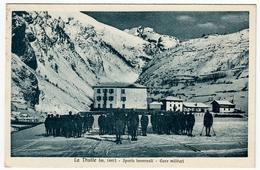 LA THUILE - SPORTS INVERNALI - GARE MILITARI - 1937 - Vedi Retro - Formato Piccolo - Militari