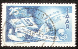 Saar 1950: Conseil De L'Europe Aufnahme Im Europarat Michel-No.297 O ST.INGBERT (SAAR) 9.12.50 (Michel 2014  15.00 Euro) - 1947-56 Protectorate