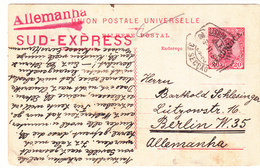 Portugal -circulou  De Lisboa Para Alemanha  No Sud Express Em 28 -3 -1911 - Portugal