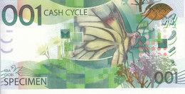 SPECIMEN TDLR TEST NOTE DE LA RUE KBA GIORI 001 CASH CYCLE UNC */* - Specimen