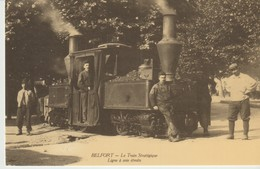 C.P. - BELFORT - LE TRAIN STRATÉGIQUE - LIGNE A VOIE ÉTROITE  - CECODI -  REPRODUCTION - C'ÉTAIT LA FRANCE - Belfort - City