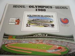 Miniature Sheet Perf Seoul Olympics 88 - Solomon Islands (1978-...)