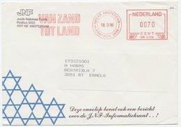 Meter Cover Netherlands 1986 Jewish National Fund - From Sand To Land - Briefmarken