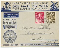 Cover / Postmark Netherlands Indies 1937 Illiustrated Advertisment Cover Jamboree Stamps - Padvinderij