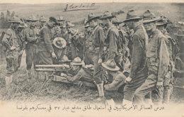 AN 266 / C P A      AMERIQUE  CAMP AMERICAIN THEORIE SUR LE FONCTIONNEMENT DU CANON - Postcards