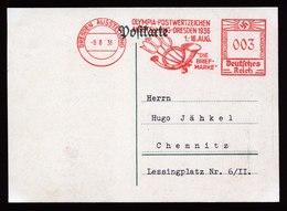 A6197) DR Karte Dresden Mit Seltenem AFS Ausstellung 08.08.36 - Briefe U. Dokumente