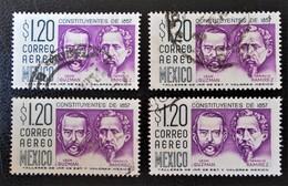 LEON GUZMAN & IGNACIO RAMIREZ 1956 - OBLITERES - YT 198 - VARIETES D'OBLITERATIONS - Mexico