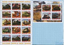 Abkhazia / Stamps / Private Issue. World War II. Military Equipment Tanks. Great Britain. 2019. - Vignettes De Fantaisie