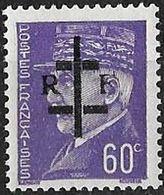 FRANCE LIBERATION   LA CHARITE Sur LOIRE 60c**violet. Signé MAYER - Libération