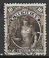 URUGUAY   -  1895  .   Y&T N° 107 Oblitéré . - Uruguay