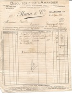 01 - Bellegarde - Facture Biscuiterie De L'Amandier - France
