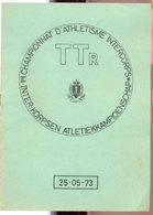 Championnat D'athlétisme TTR   1973 - Documents