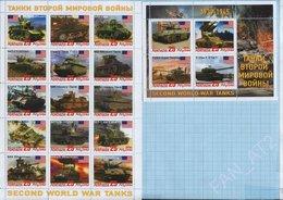 Abkhazia / Stamps / Private Issue. World War II. Military Equipment Tanks. USA. 2019. - Vignettes De Fantaisie