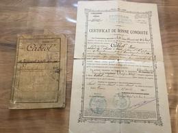 Livret Militaire Infanterie Puis Intendance Campagne De Tunisie 1889-91 Puis 14-18 Certificat - Documents