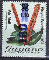 Guyana 1981 Single Stamp Overprinted  To Celebrate The Royal Wedding Of 1981. - Guyana (1966-...)
