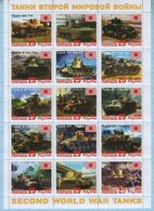 Abkhazia / Stamps / Private Issue. World War II. Military Equipment Tanks. Japan 2019. - Fantasy Labels
