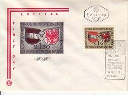 BM737 Österreich FDC Ersttag ANK 1163, 600 Jahre Tirol, Sonderstempel Wien 1 Vom 27.9.1963 - FDC