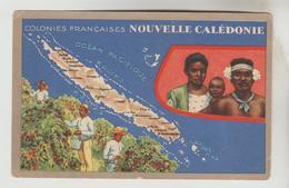 CPSM NOUVELLE CALEDONIE CARTE GEOGRAPHIQUE FRANCAISE - Maps