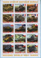 Abkhazia / Stamps / Private Issue. World War II. Military Equipment Tanks 2019. - Fantasy Labels