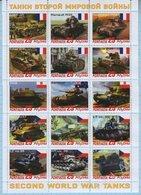 Abkhazia / Stamps / Private Issue. World War II. Military Equipment Tanks 2019. - Vignettes De Fantaisie