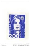 Briat 2fr Bleu YT 2906a En Non Dentelé . Superbe , Voir Le Scan . Cote YT : 12.50 € . - Abarten Und Kuriositäten