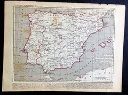 L'ESPAGNE APRÈS L'EXPULSION DES MAURES Et Pendant La Réunion Du PORTUGAL De 1492 à 1640 - Geographische Kaarten