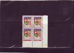 N° 1230A - 0,05F Blason D'ORAN - A De A+B -1° Tirage Du 20..9.60 Au 4.11.60 -28.9.1960 - - Coins Datés