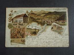 Cpa Bitschwiller-lès-Thann Adressée à Mr Louis Télégraphiste à Tourcoing Tampon De Mulhausen. Bitschweiler 1898 - France