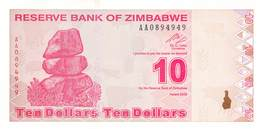 10 Dollar Zimbawe 2009 UNC - Billetes