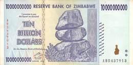 Ten Billion Dollars Zimbawe 2008 UNC - Banconote