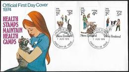 1974 - NEW ZEALAND - FDC + SG 1054/1056 + WELLINGTON - FDC