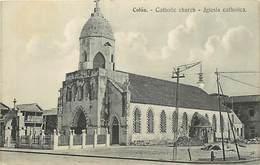 Pays Div -ref T225- Panama - Colon - Catholic Church - Iglesia Catholica - - Panama