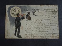 Cpa Zapfenstreich C. Becker  Adressée à Mr Louis Télégraphiste à Tourcoing Tampon De Mulhausen. Mulhouse 1898 - Mulhouse