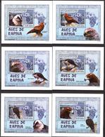 A{140} Mozambique 2007 Birds Of Prey 6 S/S Deluxe MNH** - Mosambik