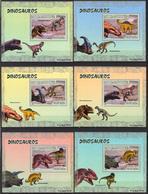 A{141} Mozambique 2007 Dinosaurs 6 S/S Deluxe MNH** - Mozambique