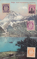 Norwegische Landschaft Mit Int. Briefmarken - 1923    (A-72-170710) - Norvegia