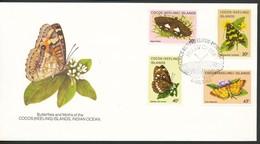 Briefmarken   Brief   Kokos-Inseln  Mi,Nr, 92+94+96+97 - Briefmarken