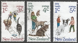 New Zealand. 1974 Health Stamps. Used Complete Set. SG 1054-1056 - New Zealand