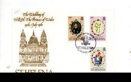 LAB685 - ST. HELENA 1981 , Royal Wedding  Charles Diana Su FDC - Isola Di Sant'Elena
