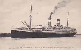 MARINE DE COMMERCE - PAQUEBOT ASIE - CPA DE 1931.. - Commerce