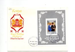 LAB686 - KENYA 1981 , Royal Wedding BF  Charles Diana Su FDC - Kenia (1963-...)