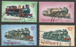New Zealand. 1973 Steam Locomotives. Used Complete Set. SG 1003-1006 - New Zealand