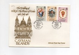 LAB687 - CAYMAN 1981 , Royal Wedding   Charles Diana Su FDC - Cayman (Isole)