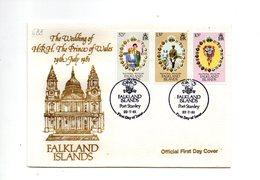 LAB688 - FALKLAND 1981 , Royal Wedding   Charles Diana Su FDC - Falkland