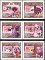 A{147} Guinea 2008 Dogs Of China 6 S/S Deluxe MNH** - Guinea (1958-...)