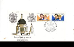 LAB689 - COCOS 1981 , Royal Wedding   Charles Diana Su FDC - Isole Cocos (Keeling)