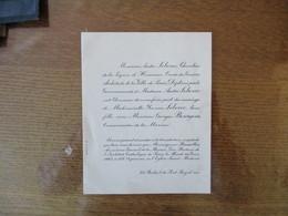 PARIS LE 29 JUIN 1943 MONSIEUR GEORGES BOURGOIN COMMISSAIRE DE LA MARINE ET MADEMOISELLE YVONNE LEBOUC - Mariage