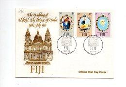 LAB690 - FIJI 1981 , Royal Wedding   Charles Diana Su FDC - Fiji (1970-...)